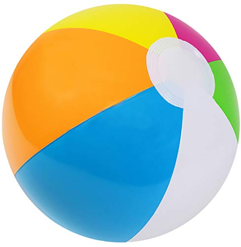 Kangaroo 12 Inflatable Neon, Rainbow Beach Ball, 12-Pack; Pool Toys; Beach Balls