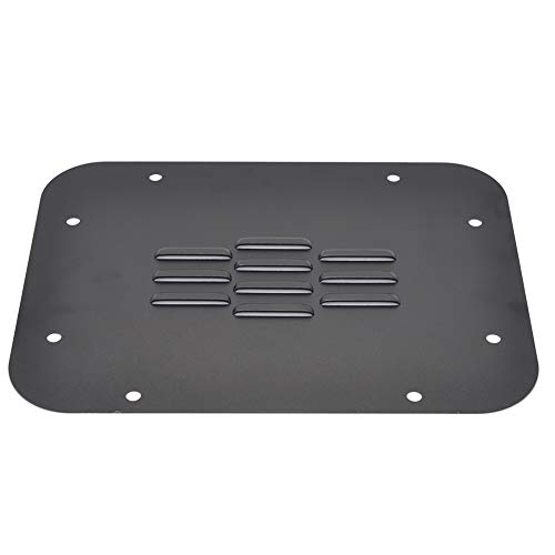 Tailgate Vent-Plate Cover for 2007-2018 Jeep JK Wrangler /& Unlimited License Plate Mount GZSJY Spare Tire Carrier Delete Filler Plate Tramp Stamp