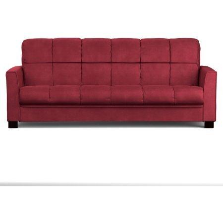 Baja Convert-a-Couch Sofa Sleeper Bed - Crimson (Sleeper Steel Sofa)
