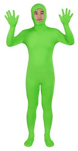 Sheface Open Face Full Body Greenman Suit - Lime Green (XXX-Large, Lime Green) -