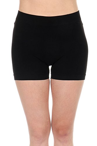 - TODAY SHOWROOM Thin Mini Stretch Shorts for Women- Reg. (XS, S, M), Plus Size(L, 1XL, 2XL) -Great for Sports or to Wear Under Dress or Skirt (Plus Size (L,1xl,2XL), Black)