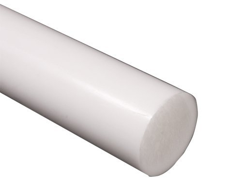 Assigned by Sterling Seal & Supply, (STCC) PTFE-1.50x6-RD.Toe Teflon Rod PTFE, Plastic FDA/USDA Approved, 1-1/2