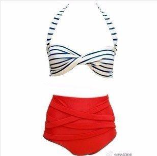 b4db7604016a QPLA@Dividere i Costumi da Bagno Rosso Pantaloni, Bianco e Nero Vita Alta  Costume