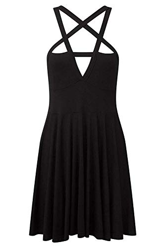 Fashion Dress Gothic Vintage Romantic Casual Dress for Women (XXL, style1) (XXL, Black)]()