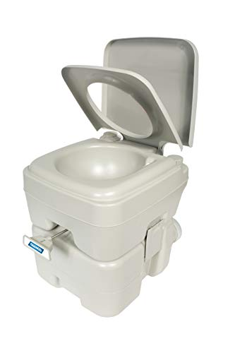Camco Portable Travel Toilet-Designed for Camping, RV, Boating and Other Recreational Activities-5.3 Gallon - 3 Cartridge Bio
