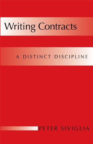 Writing Contracts: A Distinct Discipline