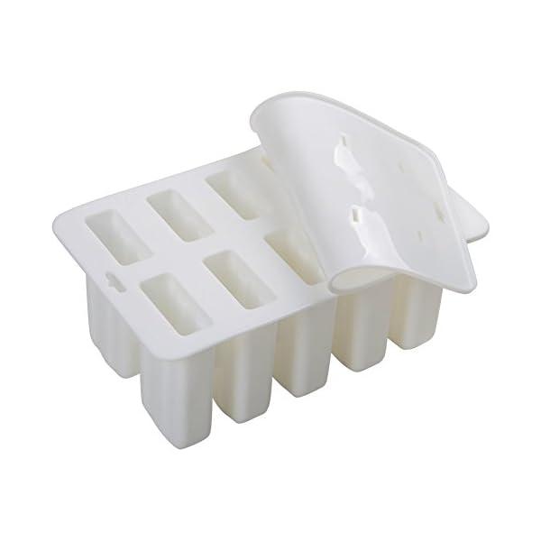 TOOGOO Gel di silice Stampo per Gelato Stampo per ghiacciolo Stampo per Gelato Popsicle Stampo per Gelato 10 con Stampo… 6 spesavip