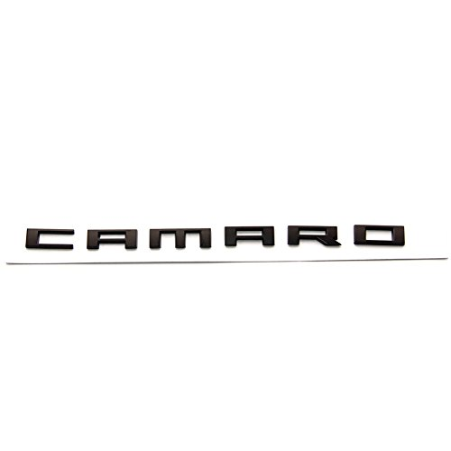 Yoaoo 1 OEM Camaro Letter Emblem 3D Badge Rs Ss Zl1 Z28 Chevy Matte Black