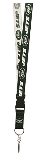 NFL New York Jets Two Tone Lanyard, Green/White, One Size (New York Jets Lanyard)
