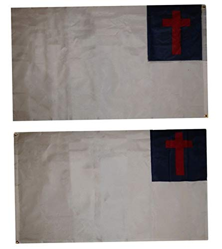 Hebel 3x5 Christ Christian Double Sided Nylon Flag 3x5 Grommets 3 Ply with Liner | Model FLG - 546