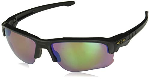 Oakley Men's Speed Jacket Polarized Iridium Oval Sunglasses, Black, 67.0 ()