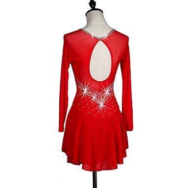 Rojo Y Color Oscuro Para Niña De Vestido Patinaje Azul Mujer Zhangminzl wgvqpx