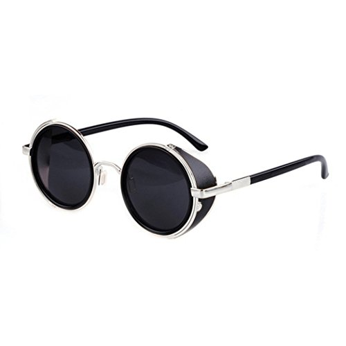 eshion Hot Cool Vintage Style Unisex Round Frame - For Cool Sunglasses Men
