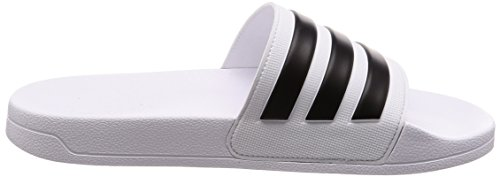 adidas Black Adilette Pool Men's White Shower Core Beach Shoes and Ftwr White g4Crg1