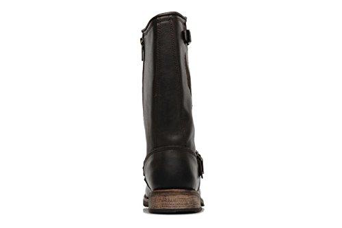 Harley Davidson Clint Men Brown Eagle Leather Condctor Biker Zip Boots Original PTC3z