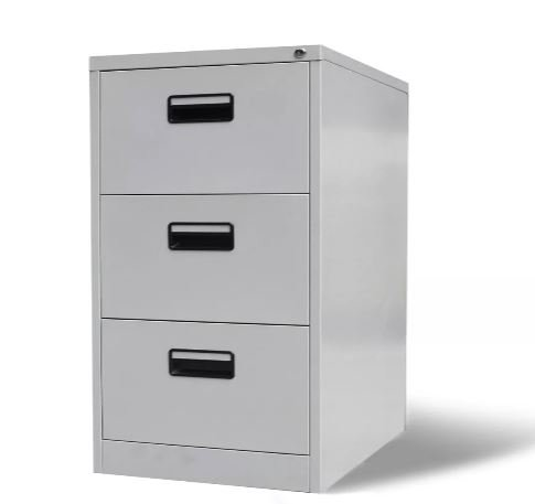 K&A Company Metal Hanging File Cabinet 3 Gray