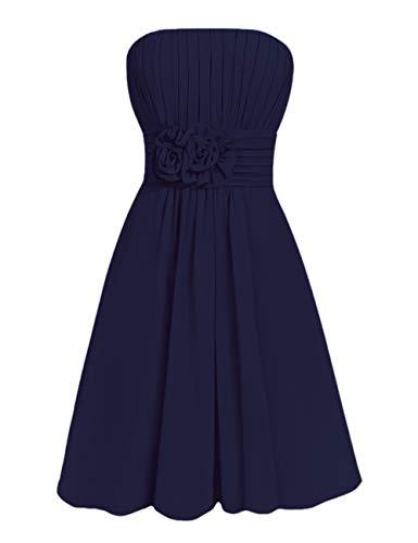 Bleu Mariage Chic Bustier Courte Invité Soirée Pour Huini Sans Femme Marine Robe Bretelle Cérémonie Mousseline pOwFwYvRq