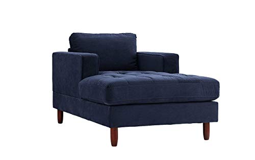George Oliver Velvet Chaise Lounge Chair Sofa Indoor Removable Cushions, Navy + Basic Design Concepts Expert Guide