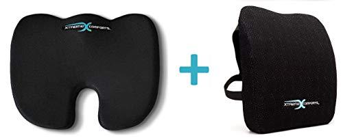 Xtreme Comforts Original Coccyx Orthopedic Memory Foam Seat Cushion with 100% Memory Foam Lumbar Cushion by Xtreme Comforts (Image #7)