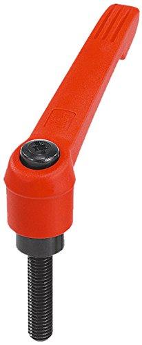 Size 1 Inch K0269.1A22X50 Kipp 06610-1A22X50 Plastic Adjustable Handle with 1//4-20 External Thread,Novo Grip Style Steel Components Orange Color Novo Grip Style KIPP Inc 50 mm Screw Length