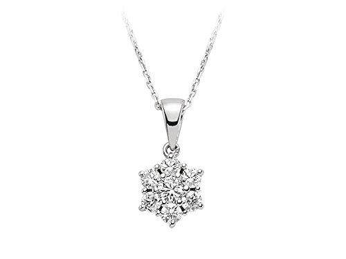 Pendentif Diamants-Femme- or Blanc 204P0068
