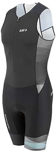 Louis Garneau Men's Pro Carbon Padded, Sleeveless, Compression Triathlon Cycling Suit, Neo-Classic, Large ()
