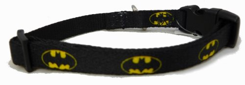 Batman Yellow Logo Little Dog Collar 1/2 Inch Width 6-9 Inch Length by Buckle Down (Dog Batman)