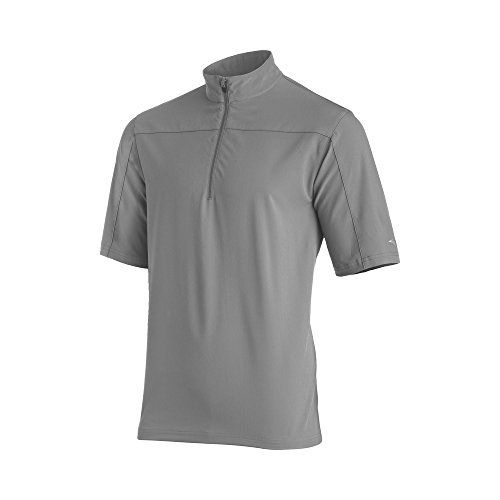 - Mizuno Comp Short sleeve Batting Jacket, Grey, Large