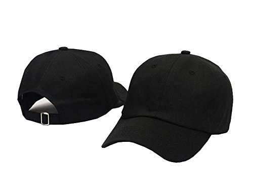 Quality Merchandise - Plan Blank 100% Cotton Dad Hats Baseball Caps For Man And Women (Black)