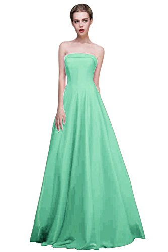 Gowns BessWedding Floor Women's Dress Length Sleeveless Strapless Green Grace Cocktail rxpq6rwS