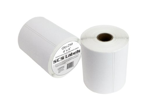 "Thermal Label Printer Roll - 250 (4"" X 6"") Removable Amazon FBA Labels - 100% Compatible with Neatoscan and Zebra Printers (2843, 2844, ZP450, Eltron, and all others)"