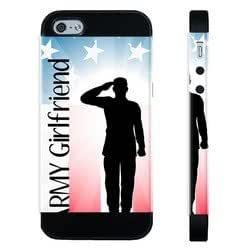 Houseofcases Proud Us Army Girlfriend Flag iPhone 4/4S Case - Hybrid Plastic And Durable Silicon iPhone 4/4S Case