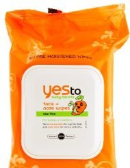 Yes To Baby Carrots Face and Nose Wipes, 30 Count