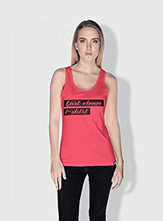 Creo Last Clean T Shirt Funny Tanks Tops For Women - Xl, Pink