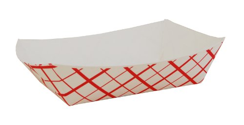 Southern Champion Tray 0421 #250 Southland Paperboard Food Tray, 2-1/2 lb Capacity, Red Check (Case of 500) (2.5 Lb Case)