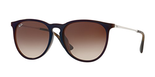 Ray-Ban Women's RB4171F Erika Sunglasses Brown / Brown Gradient 57mm (Ban Erika Ray)