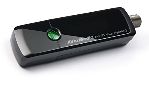 AVerMedia AVerTV Volar Hybrid Q, USB TV Tuner, ATSC, Clear QAM HDTV & FM  Radio, Supports Windows & Android TV 7 0 or above (H837)
