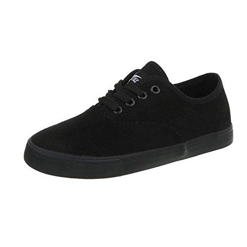 Mujer Zapatillas Para Zapatillas Design 93 Plano Ital G Zapatos Negro Bajas TtqUpa