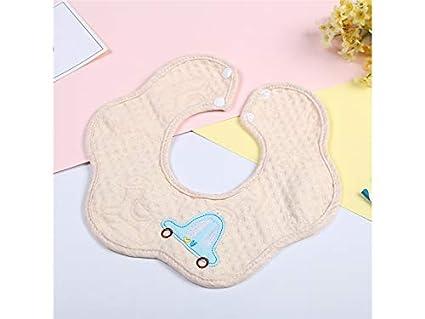 Delantal para niños pequeños Toalla bebé babero bordado Toalla babero babero Drool apto para niñas de