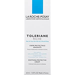 La Roche-Posay Toleriane Riche Face Moisturizer Soothing Protective Cream Moisturizer for Sensitive Skin, 1.35 Fl. Oz.