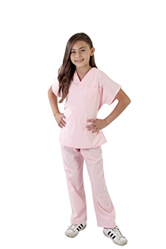 Natural Uniforms Childrens Scrub Set-Soft Touch (5/6, Pink) -