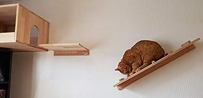 LiLu ́s - Cuento de Cuento de Hadas, Gatos, escaleras, 80 x 20 cm, Parque de Pared, Elemento de Pared, Espacio para Juegos de Gatos, Muebles de Animales: Amazon.es: Hogar