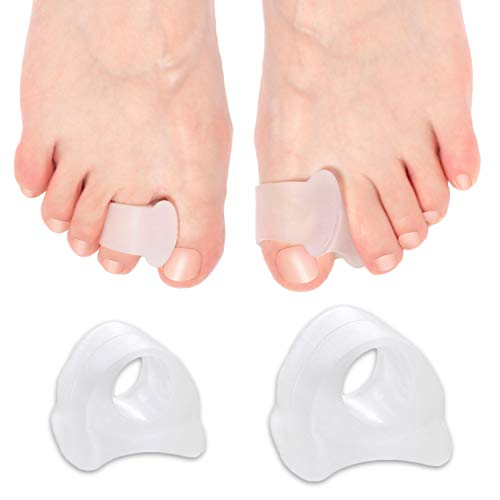 6-Pack Toe Separators, Straighteners & Spacers For Medical, Fitness and Wellness Use | Correct Your Toes Naturally | Great for Pedicure, Bunion Corrector & Yoga