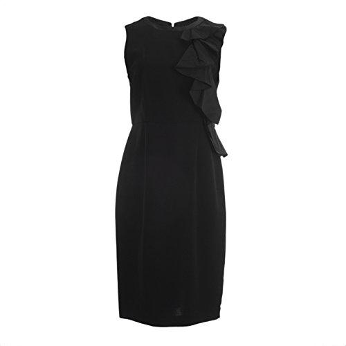 Ruffle Front Sheath Dress (MaxMara Pianoforte Women's Ogetti Ruffle Front Sheath Dress Sz 4 Black)