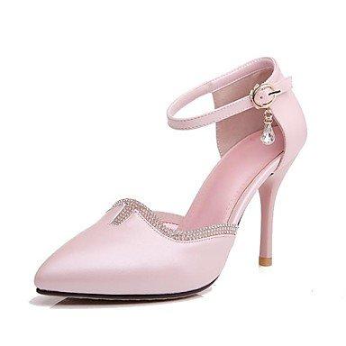 chlos Heels donne bianco Pumps sene Heels punta tacchi pelle in zeheges punta Donna High Stiletto High cirior fwqExgSvW