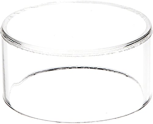 Clear Circle - Plymor Brand Clear Acrylic Round Cylinder Display Riser, 1.5