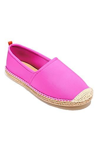 Sea Star Beachwear Women's Neoprene Beachcomber Espadrille Flat, Water-Friendly and Quick Drying Hot Pink 7