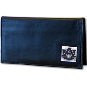 Siskiyou NCAA Auburn Tigers Leather Checkbook Cover (Leather Tigers Auburn)