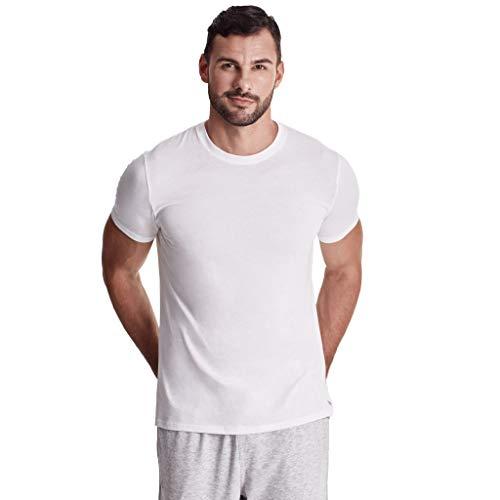 TRUTH ALONE Men's Crew Undershirt, 100% Organic Peruvian Pima Cotton White ()