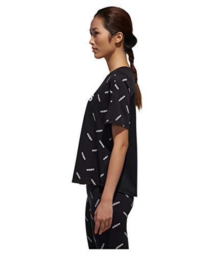 Maglietta Donna Print Adidas Black Tee W white 4xCHnpqOw